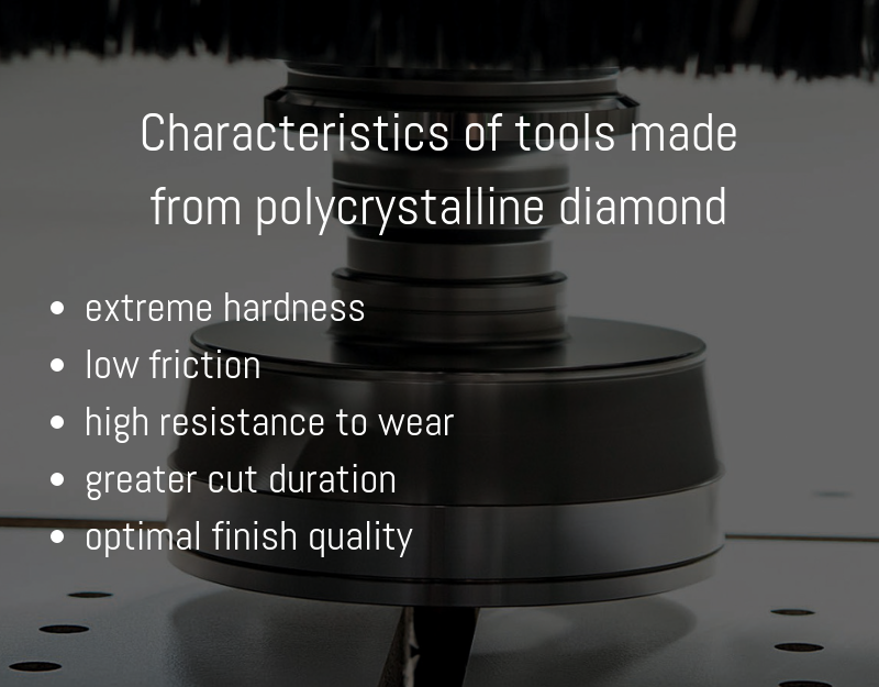 characteristics of tools made from polycrystalline diamond