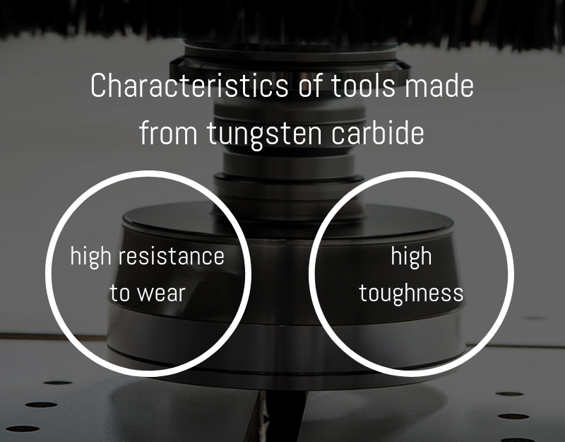characteristics of tools made from tungsten carbide